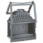 Istma Gücü: 14 kW Azami Odun Kapasitesi: 55 cm Baca Boru Ağzı: 200 mm / Çap Ağırlık: 142 kg Ebatlar: 980x692x495 mm